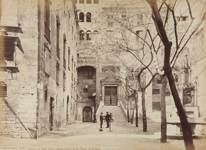 Jean Laurent - Barcelona. Convento de Santa Clara, antiguo palacio de los Reyes de Aragon - Cap a 1865