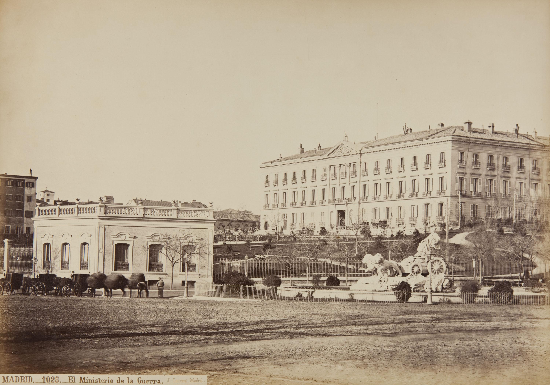 Jean Laurent - Madrid. El Ministerio de la Guerra - Circa 1865