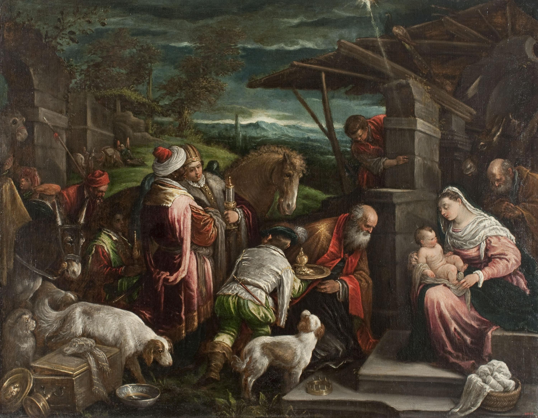 Jacopo da Ponte (Jacopo Bassano) - Adoració dels Mags - Entre 1575-1580