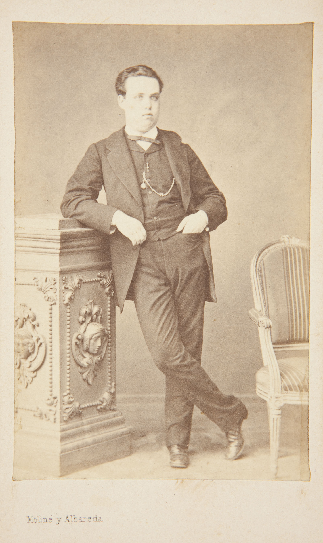 Moliné y Albareda. Barcelona - Retrat d'home - Cap a 1860