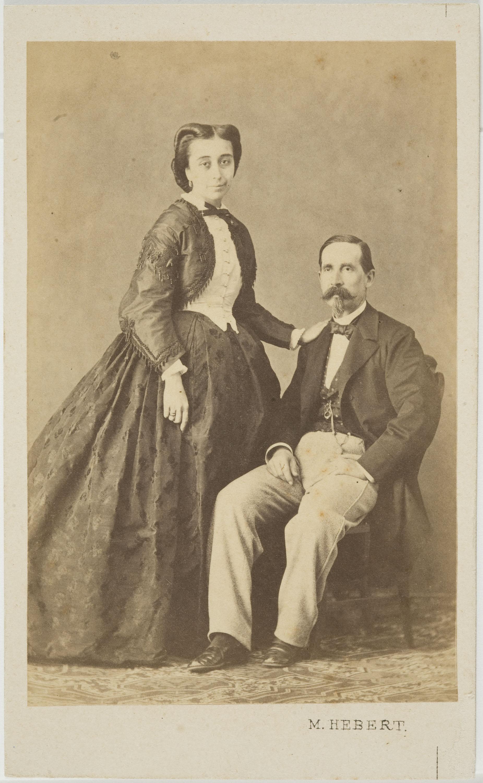Pedro Martínez de Hebert - Portrait of a man and a woman - Circa 1860