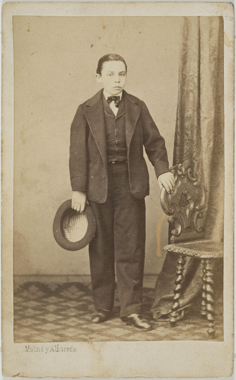 Moliné y Albareda. Barcelona - Retrat de noi - Cap a 1863