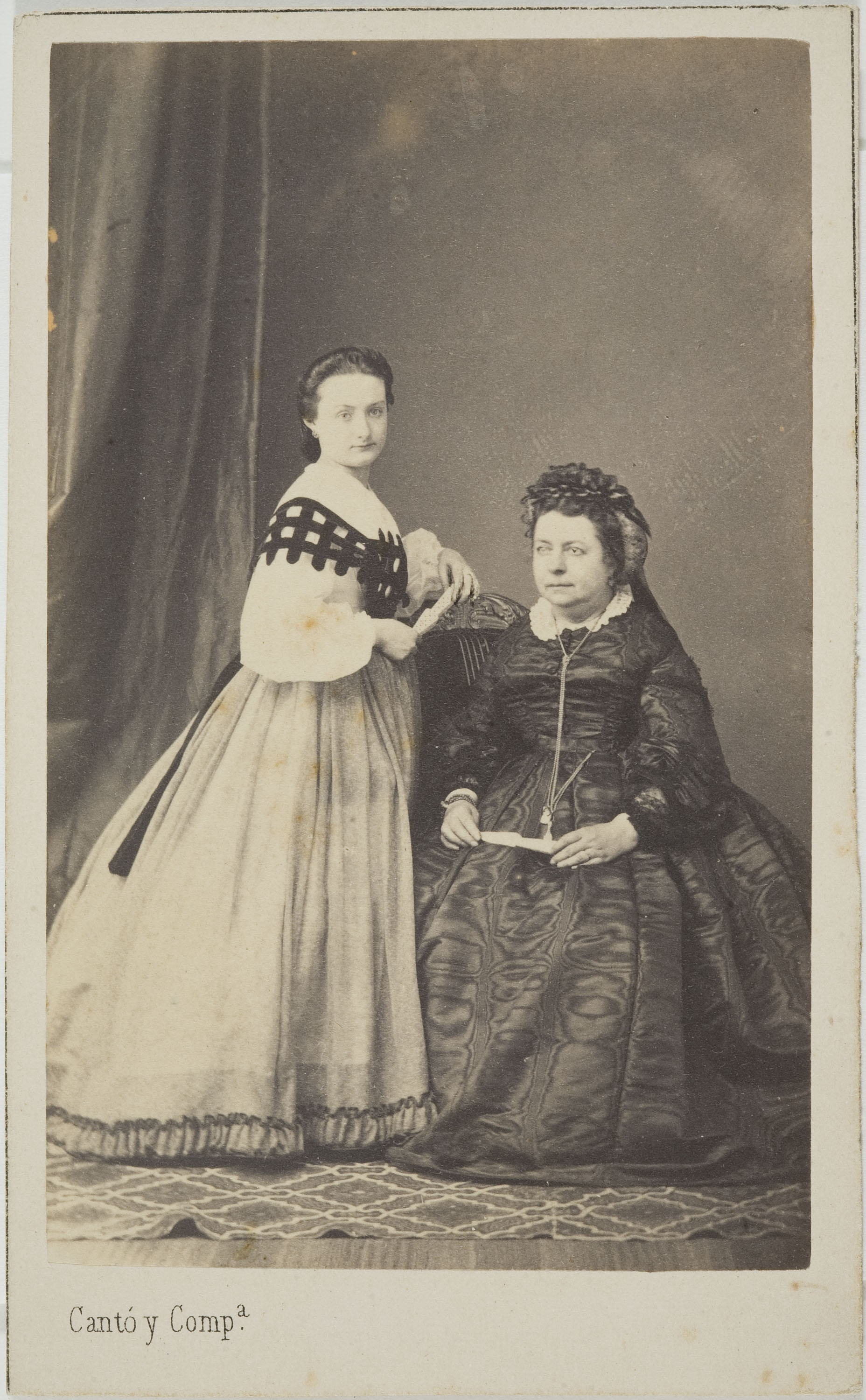 Cantó y Cía. Barcelona - Portrait of two women - Circa 1860