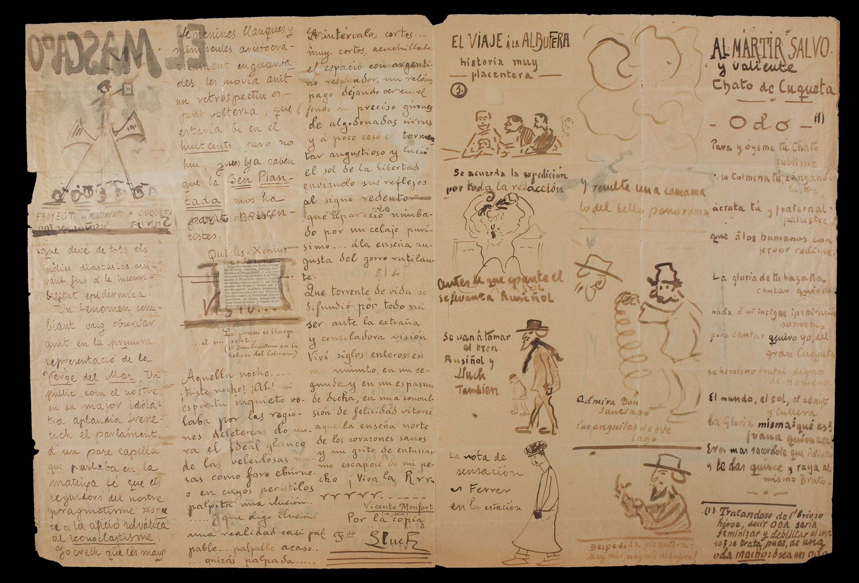 Santiago Rusiñol - El mascaró de proa. Illustrated and handwritten interior - Circa 1917