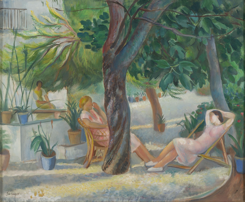 Joaquim Sunyer - Dones en un jardí - Cap a 1930-1950