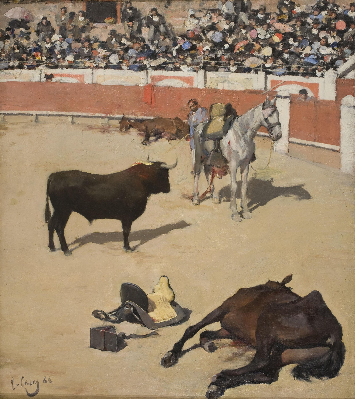 Ramon Casas - Toros (Cavalls morts) o A l'estiu, tota cuca viu - 1886