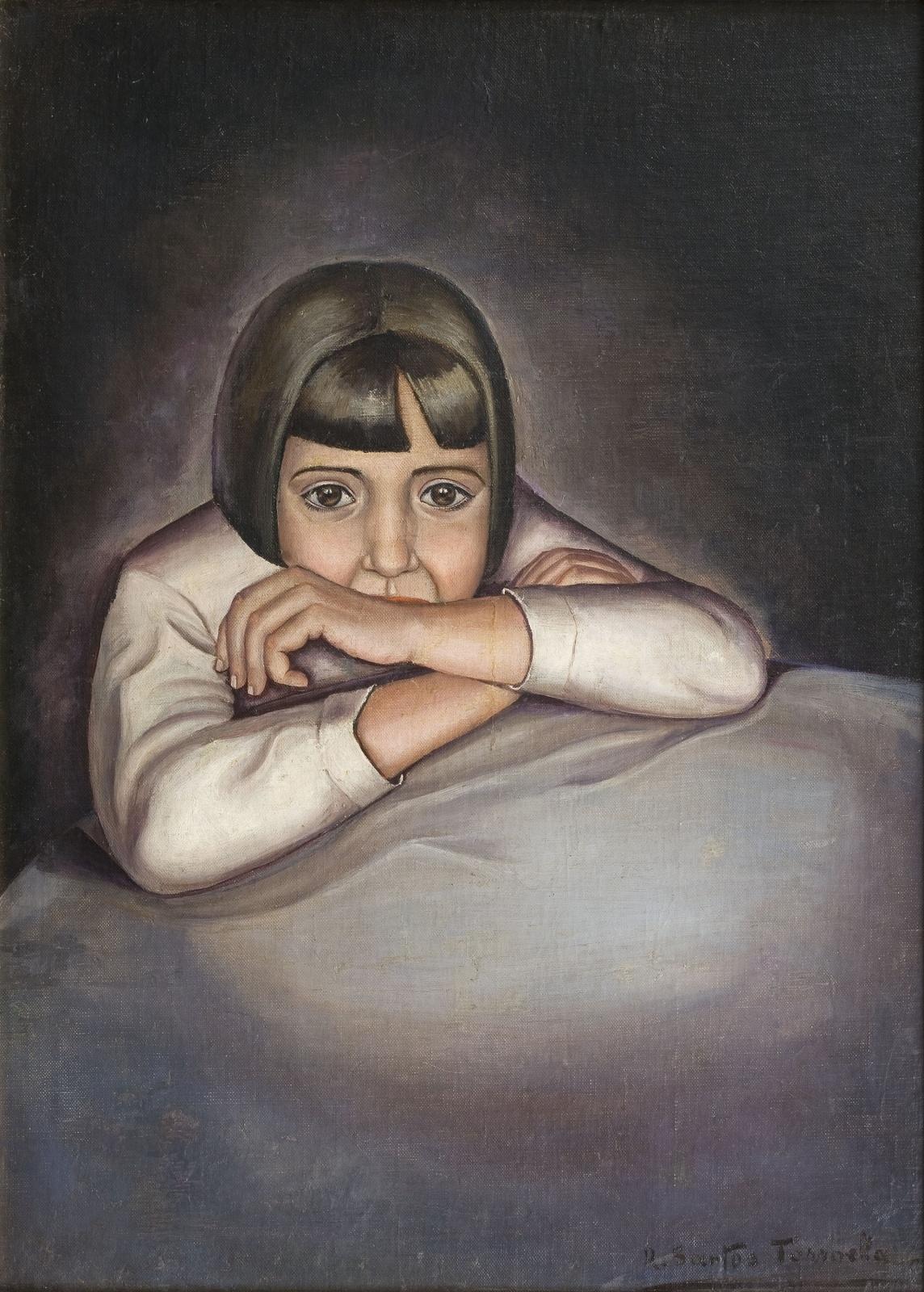 Nena (Retrat de Conchita), Ángeles Santos Torroella, Valladolid, cap a 1929