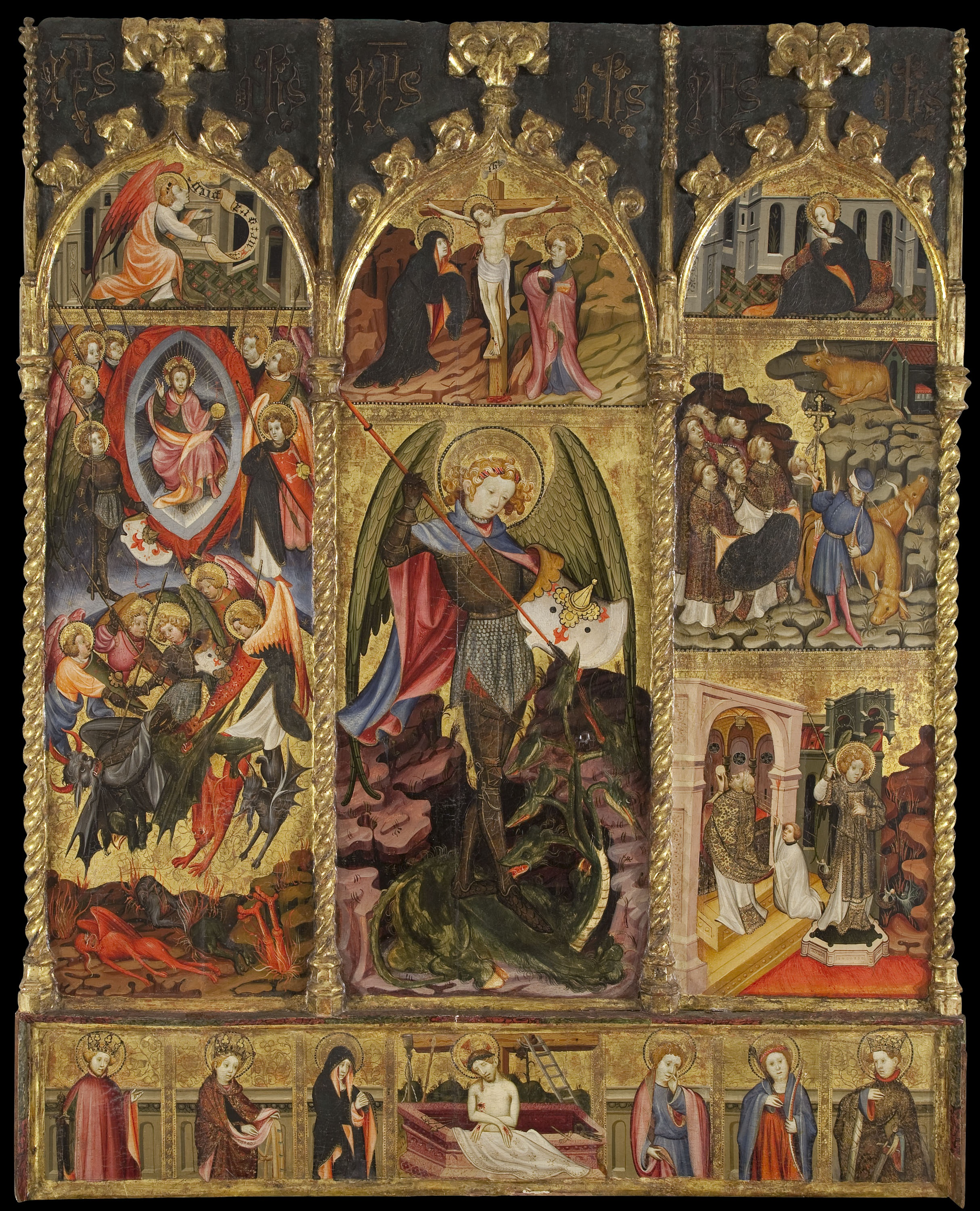 Joan Mates - Altarpiece of Saint Michael the Archangel - First quarter of 15th century