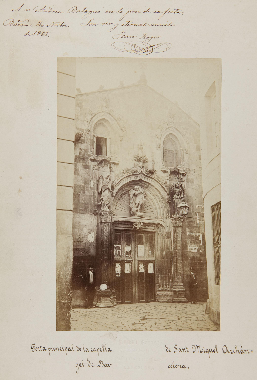 Joan Martí  - Porta principal de la capella de Sant Miquel Archángel de Barcelona - 1868