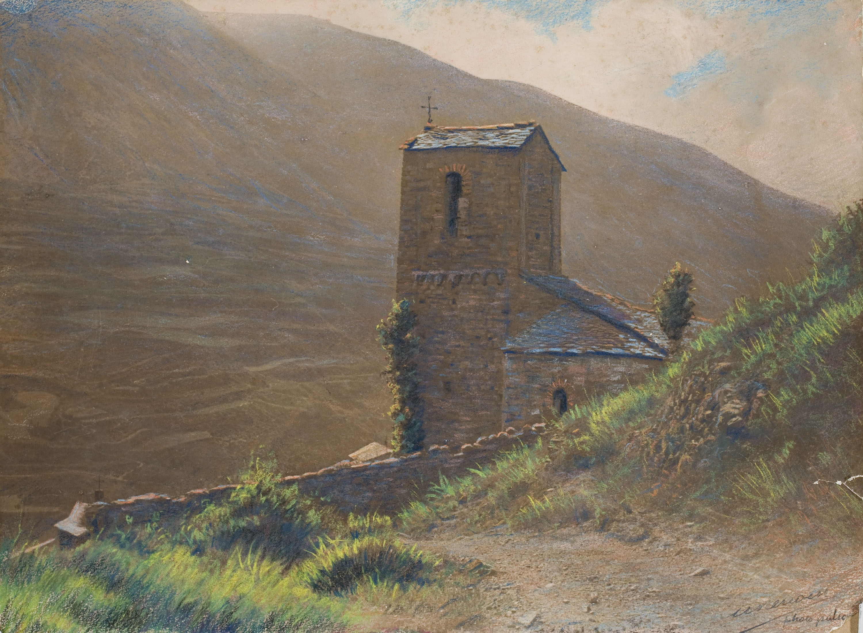 Miquel Renom - Untitled [Landscape with church] - Undated