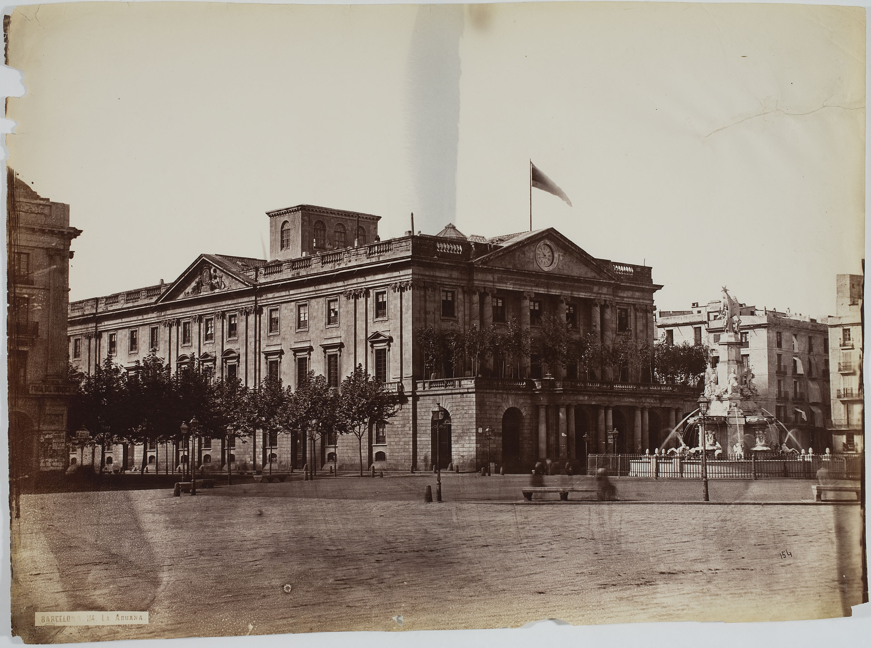 Charles Clifford - Aduana (Barcelona) [Llotja de Mar] - 1860