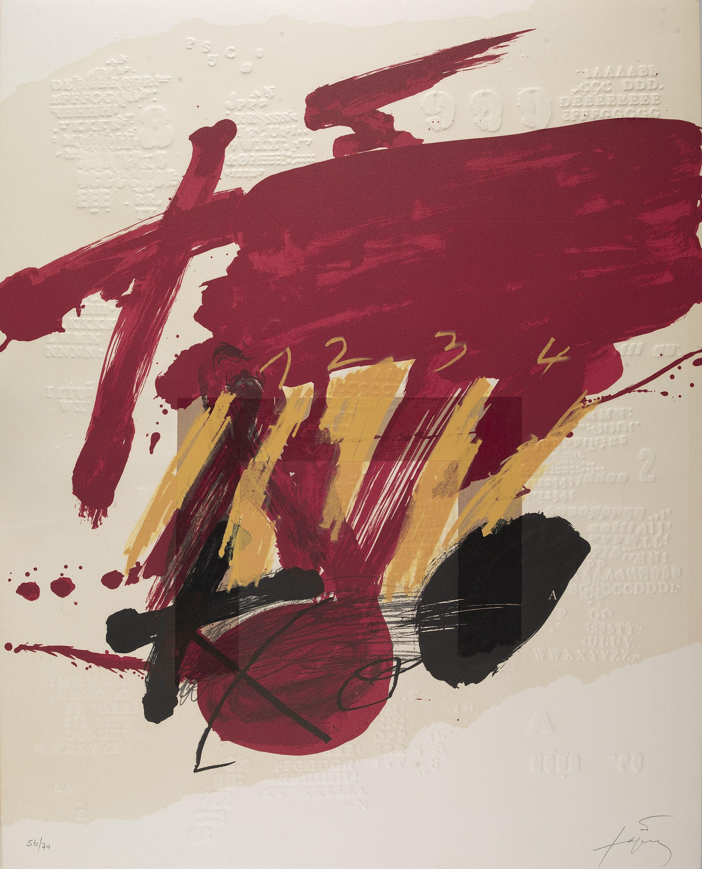 Antoni Tàpies - Composició - Cap a 1979
