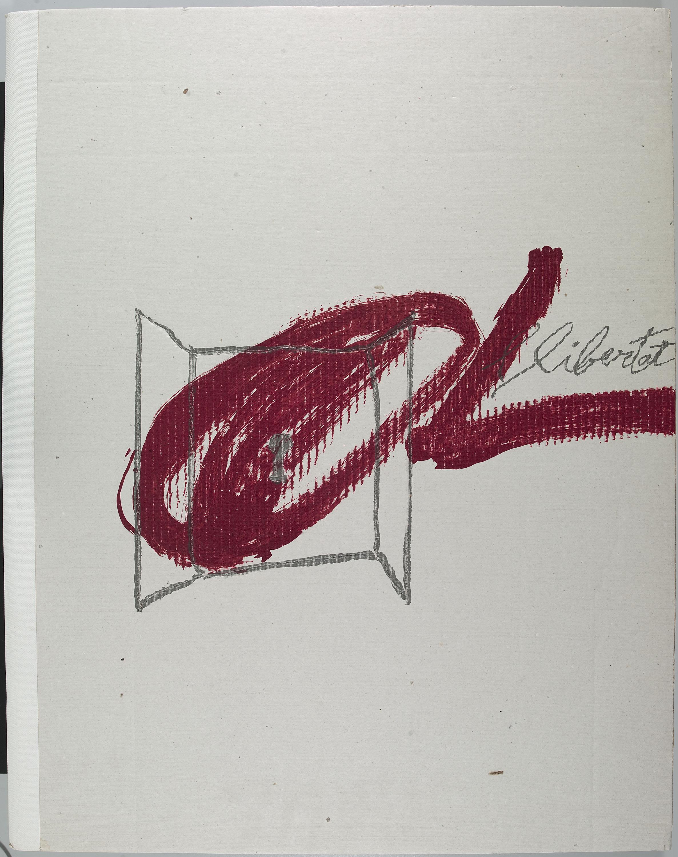 Antoni Tàpies - Manuscrit, plana amb les característiques del tiratge i set gravats editats amb motiu de la fundació de l'Arxiu del Partit Socialista Unificat de Catalunya (PSUC) - 1979
