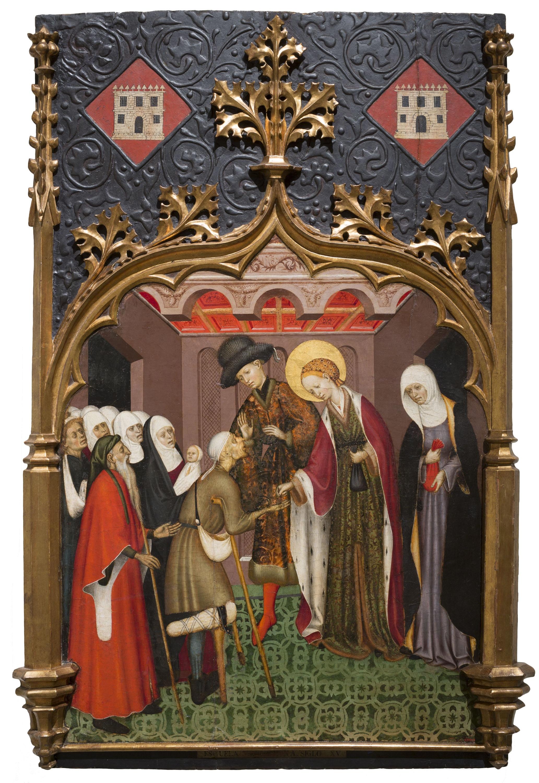 Santa Llúcia repartint almoina, Bernat Martorell