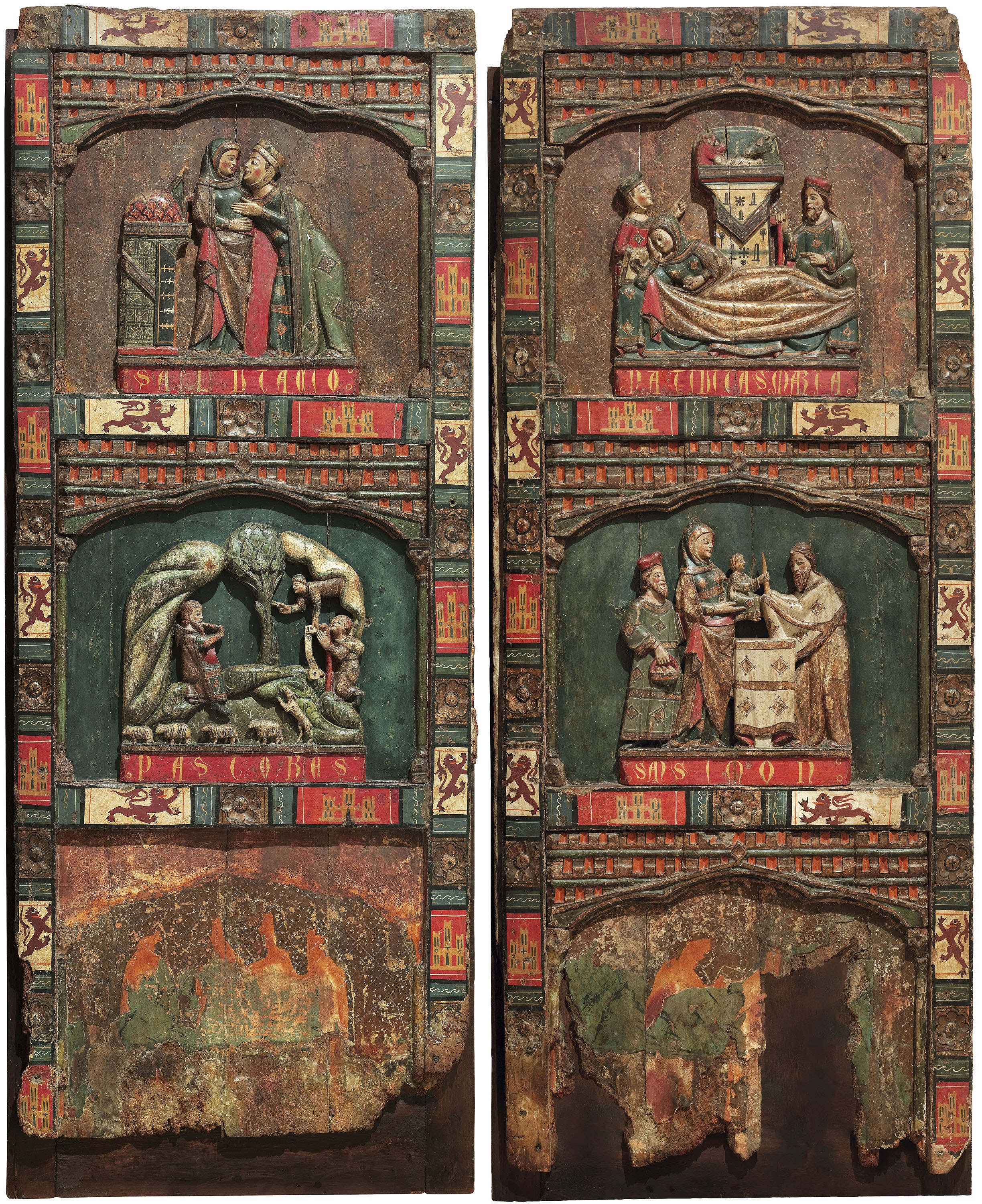 Anònim. Castella - Panels from a retable of the Childhood of Christ - Second half of the 13th century
