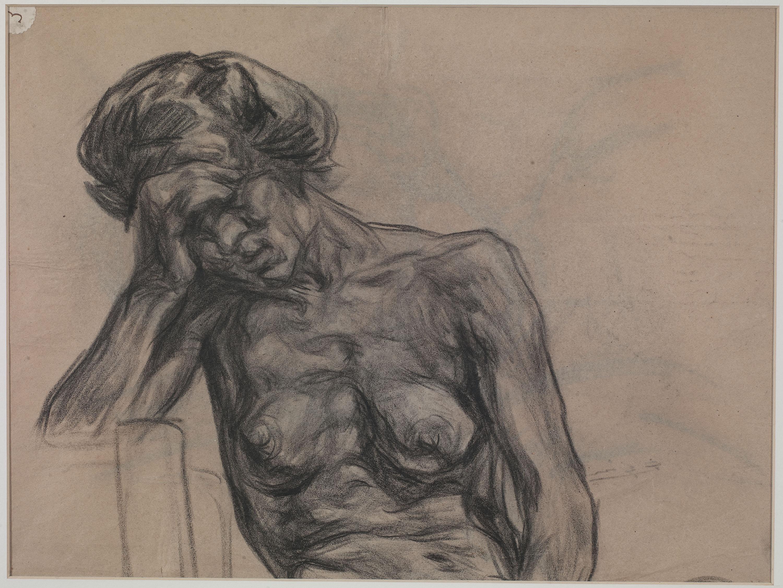 Francesc Gimeno - El son (anvers) / Nu femení (revers) - Cap a 1899-1900 [1]