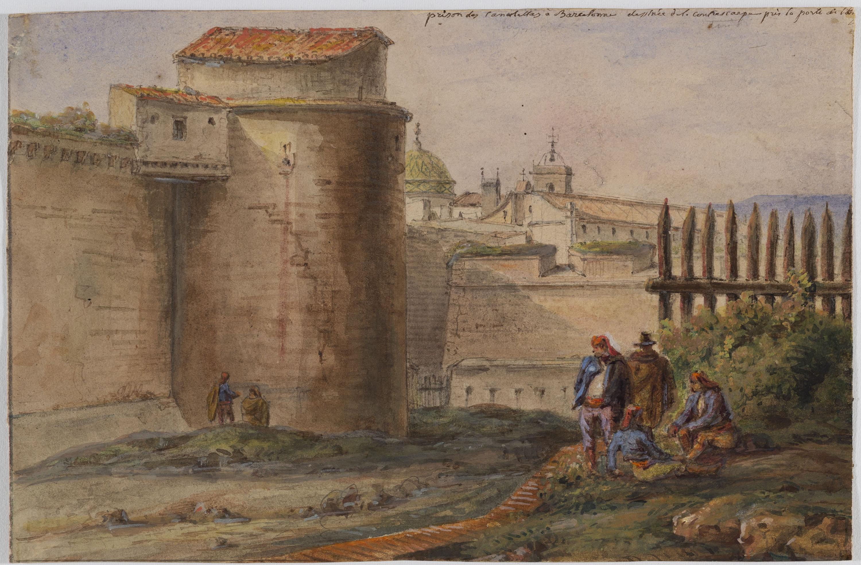Adolphe Hedwige Alphonse Delamare - Presó de Canaletes a Barcelona - 1826