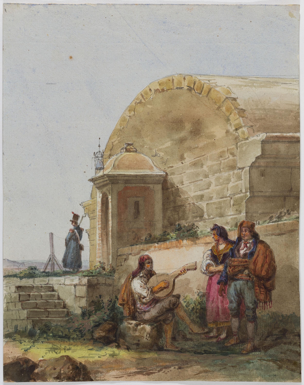 Adolphe Hedwige Alphonse Delamare - Porta de la Ciutadella a Barcelona - 1826