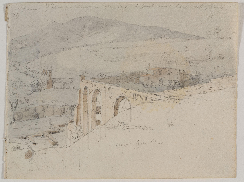 Adolphe Hedwige Alphonse Delamare - Restes de l'Aqüeducte de Can Turull a Vallcarca - Novembre de 1827