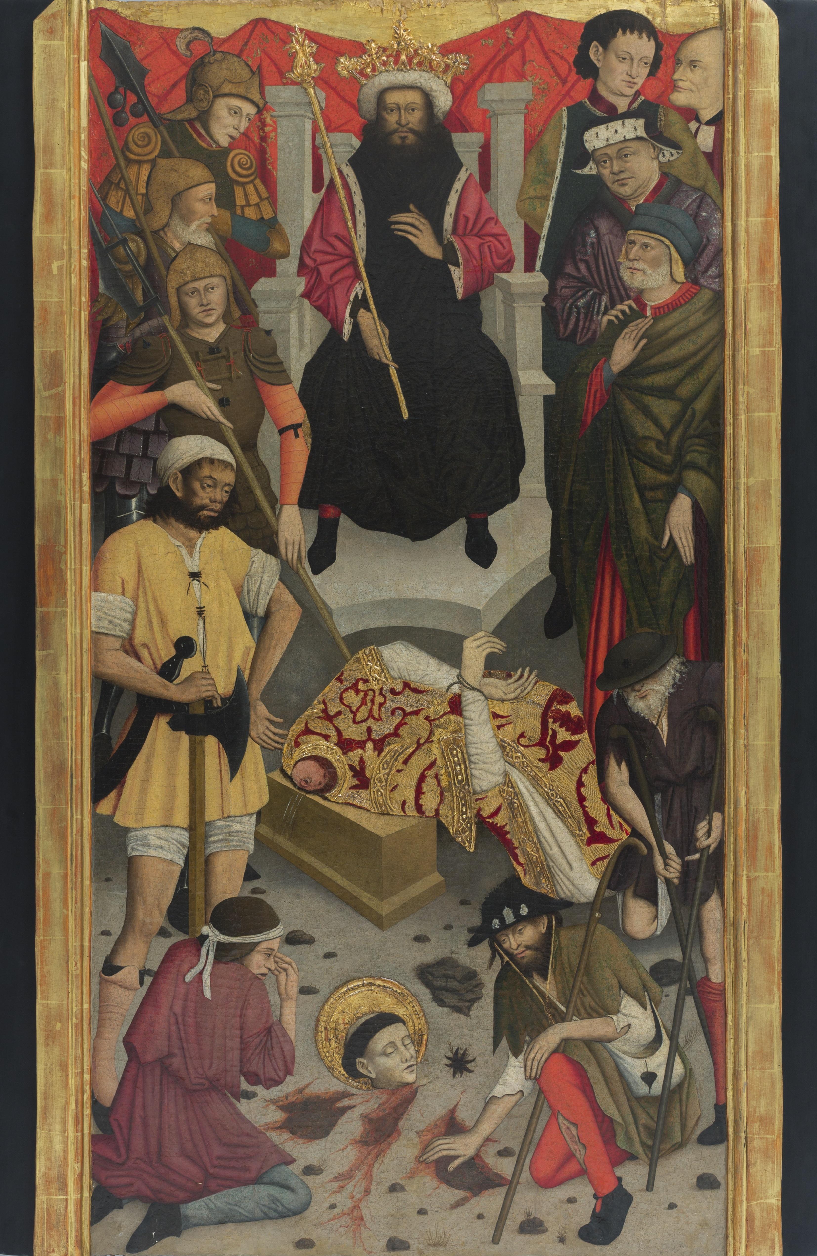 Decapitació de sant Baldiri, Luís Dalmau