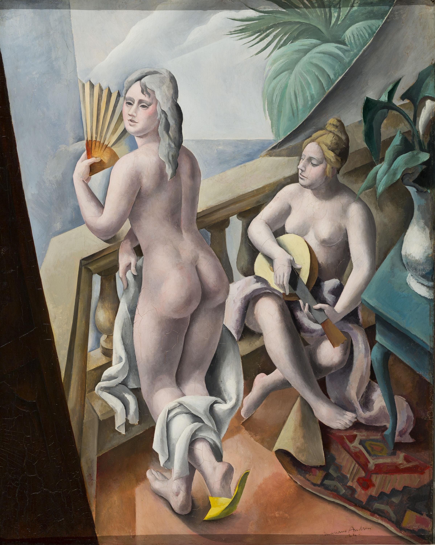 Marià Andreu Estany - Noies al balcó - 1924