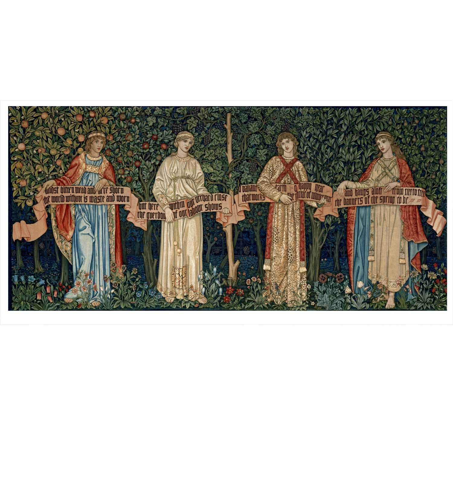William Morris, John Henry Dearle, Morris & Co., Merton Abbey Workshop. The Orchard (o The Seasons) (L'hort d'arbres fruiters o Les estacions). 1890  © Victoria and Albert Museum, London.