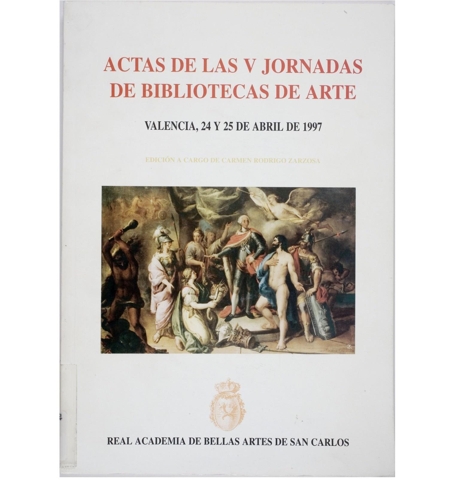 Actes del V Encuentro de Bibliotecas de Arte de España y Portugal