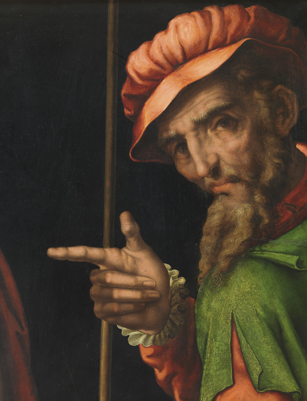 'Christ Presented to the People', detail, Luis de Morales, c. 1570. Museo de la Real Academia de Bellas Artes de San Fernando, Madrid