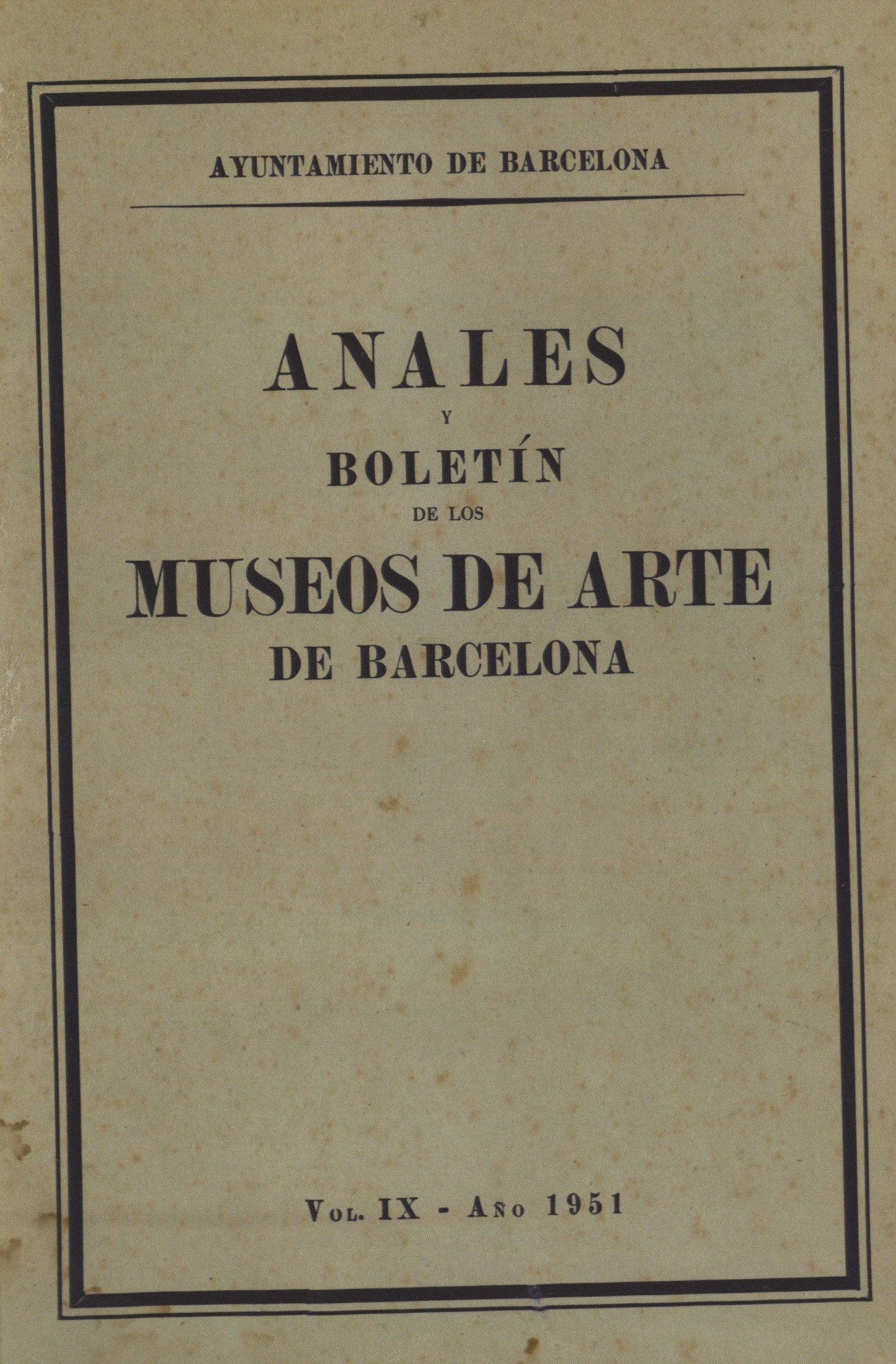 Vol. 9, 1951