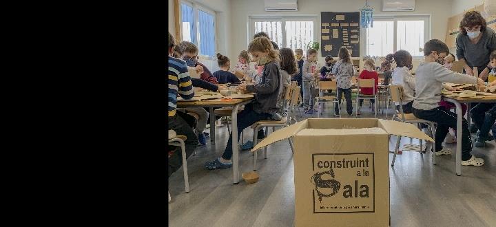 Construint a les escoles, exposició de maquetes