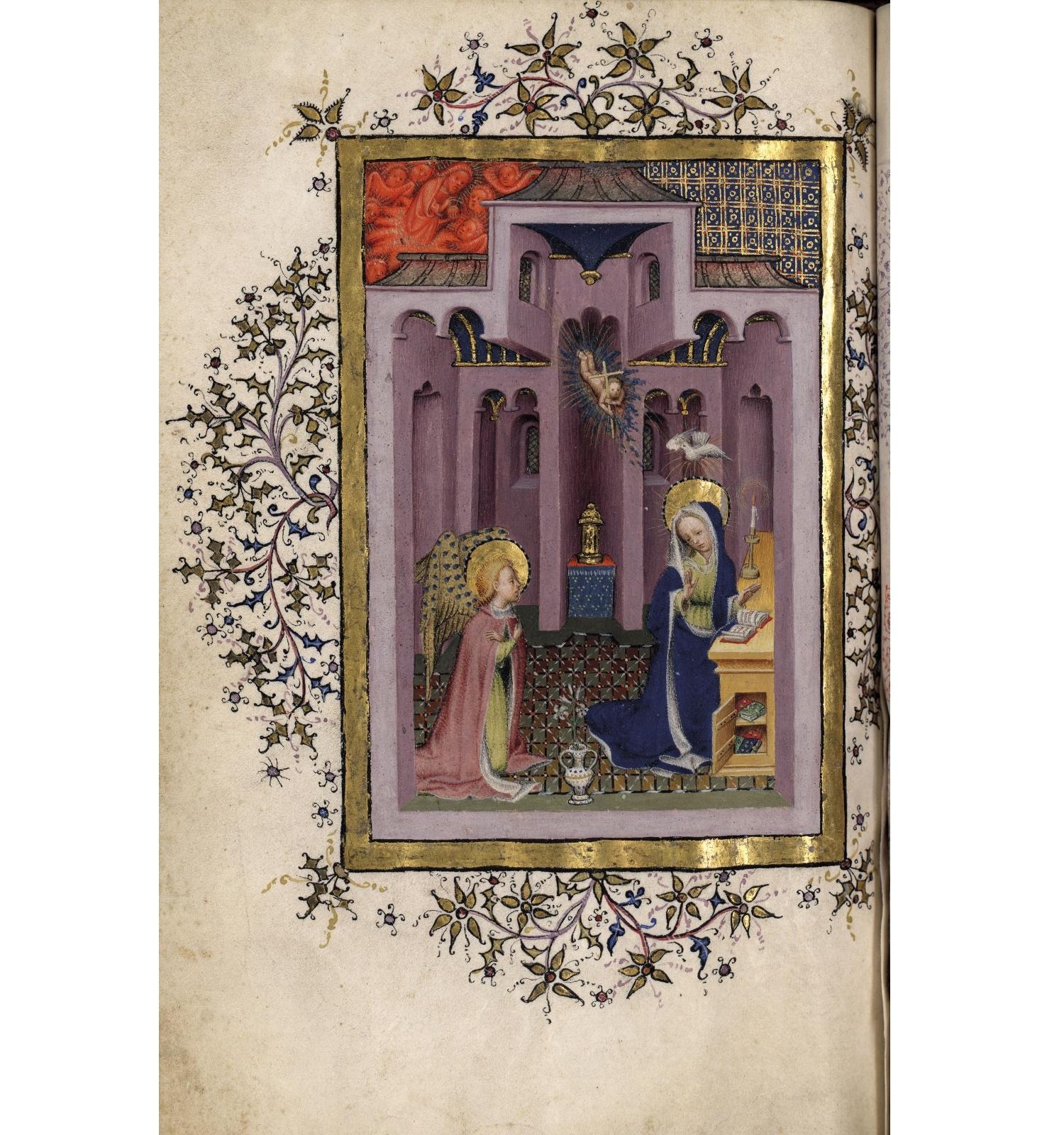 Bernat Martorell, Saltiri ferial i llibre d'Hores, 1430-1435 / Arxiu Històric de la Ciutat de Barcelona, ms.8A-398