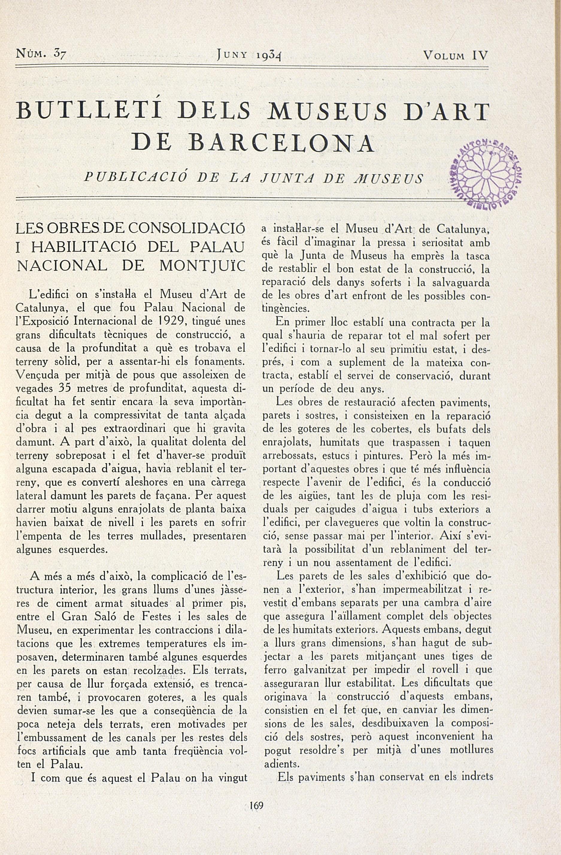 Vol. 4, núm. 37 (juny 1934)