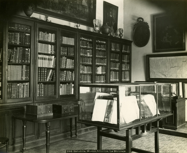 1906 La biblioteca a l'Arsenal de la Ciutadella