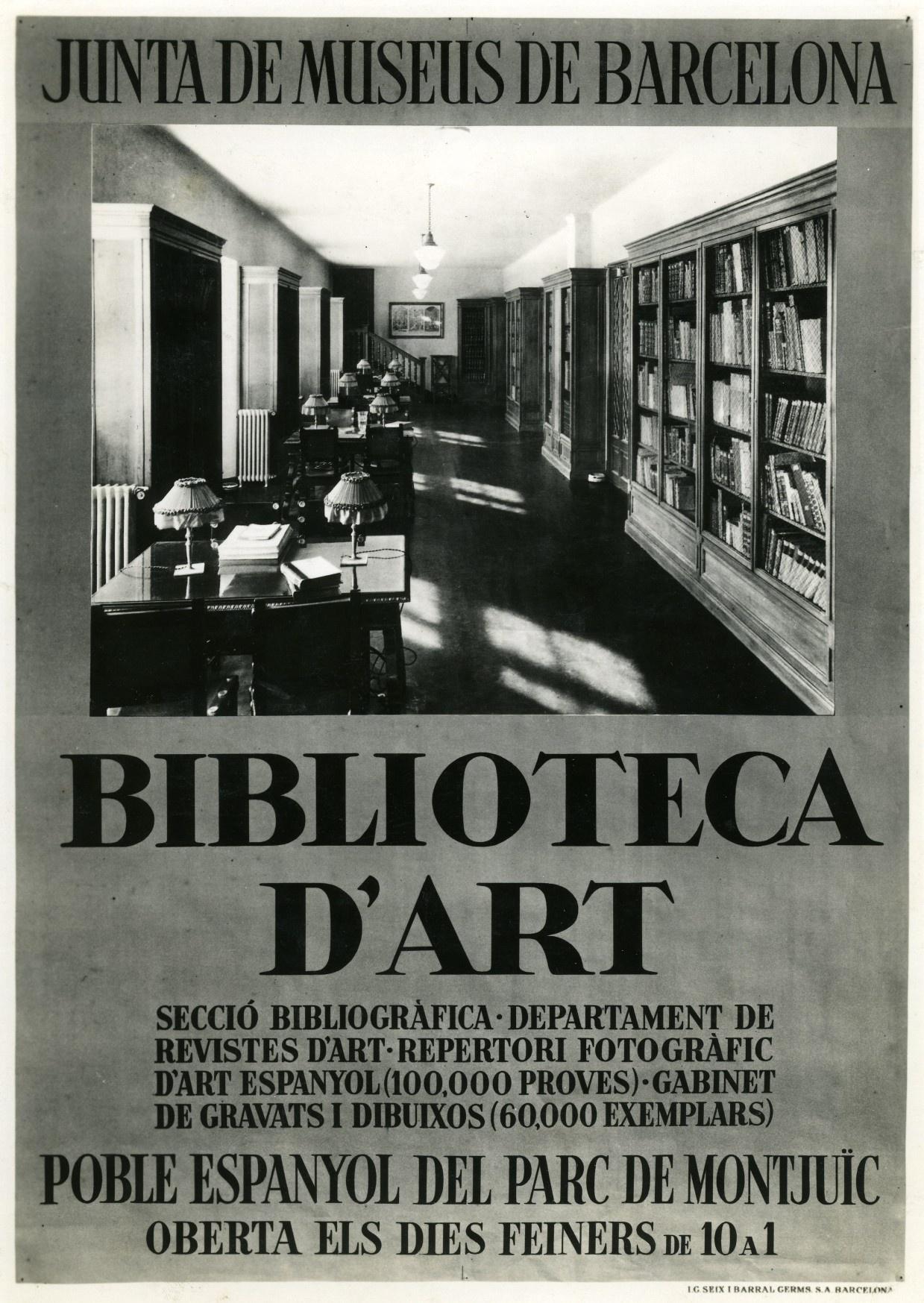 Cartell-anunci de la Biblioteca d'Art