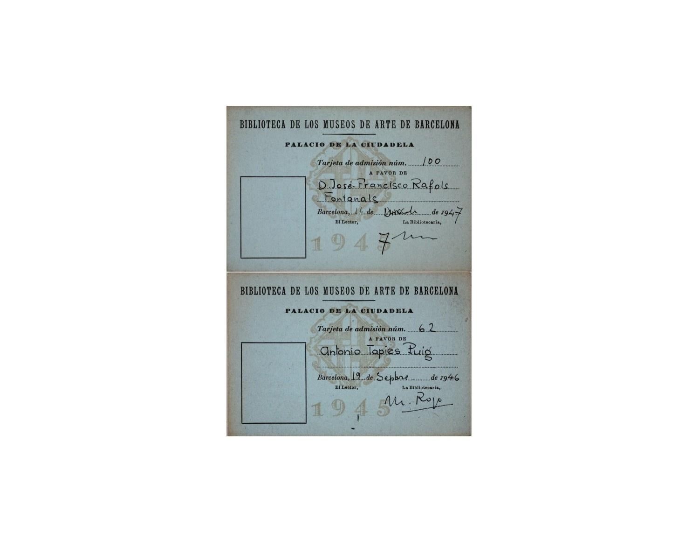 Carnets de la Biblioteca de Josep Francesc Ràfols i Antoni Tàpies