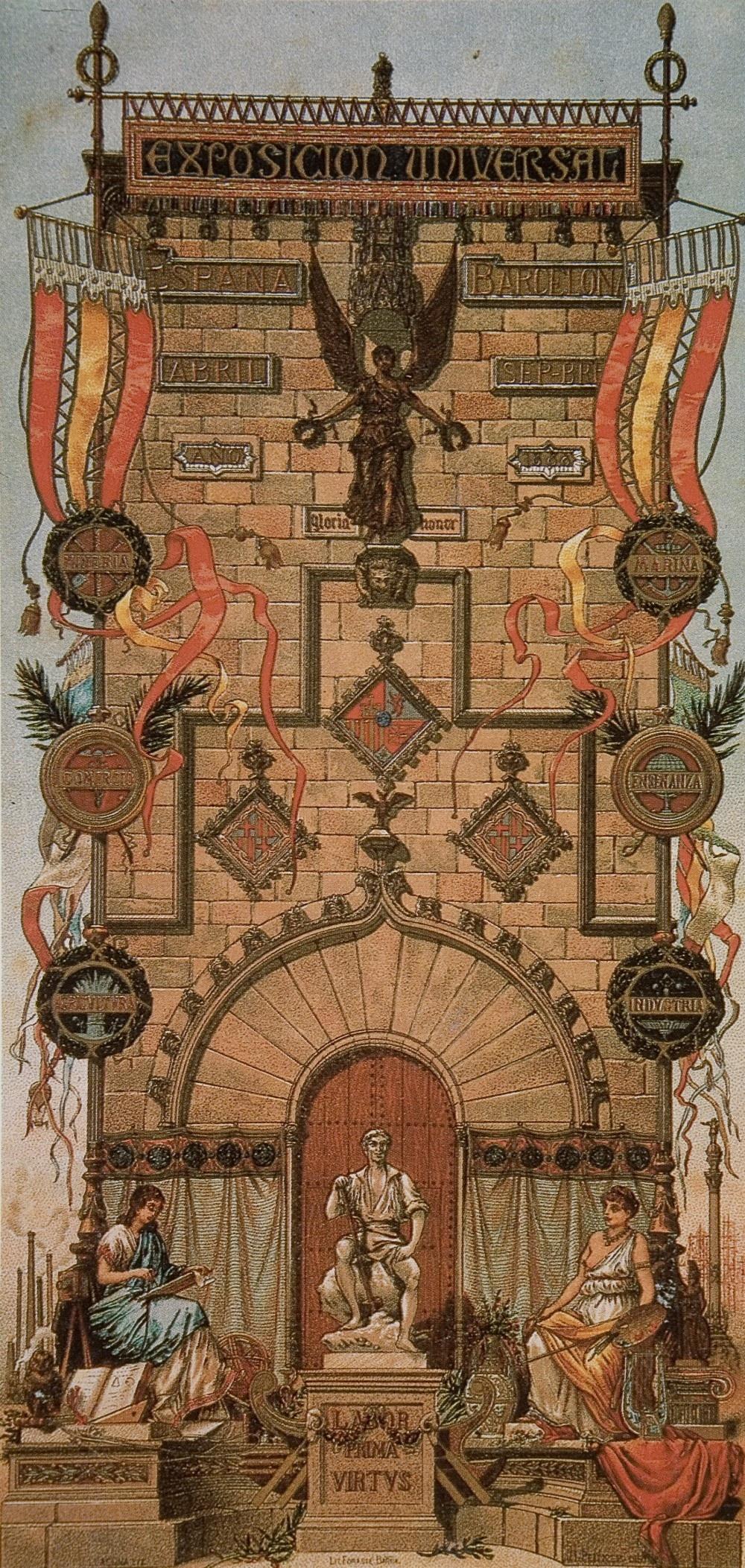 1888 Cartell oficial de l'Exposició Universal