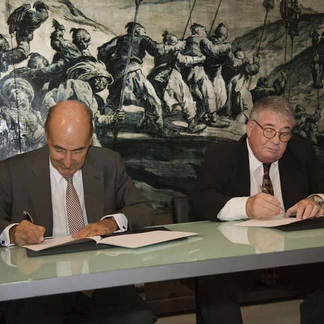Signatura conveni Fundació Damm