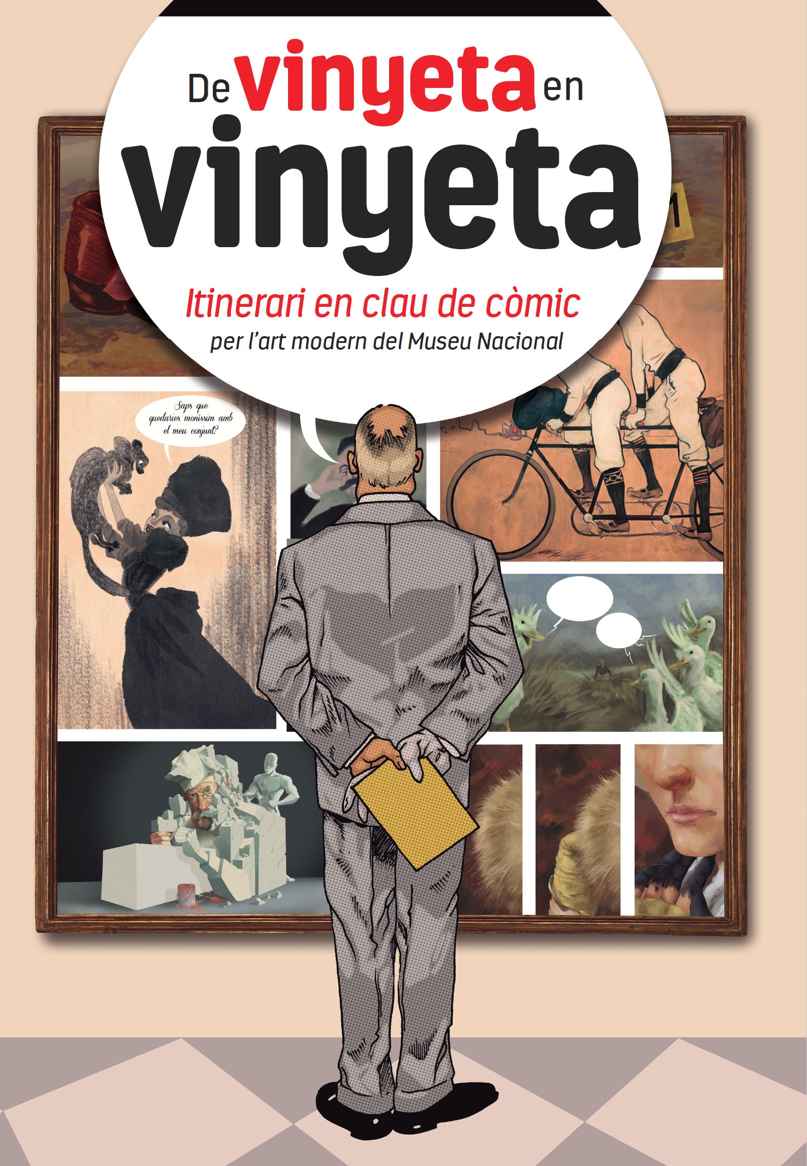 From vignette to vignette. Itinerary in comic book code by Modern Art - virtual tour