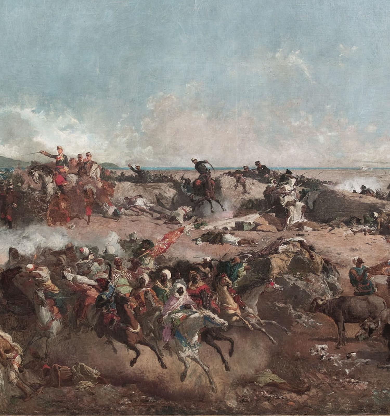 La batalla de Tetuan (detall), Marià Fortuny, Roma, 1863-1865