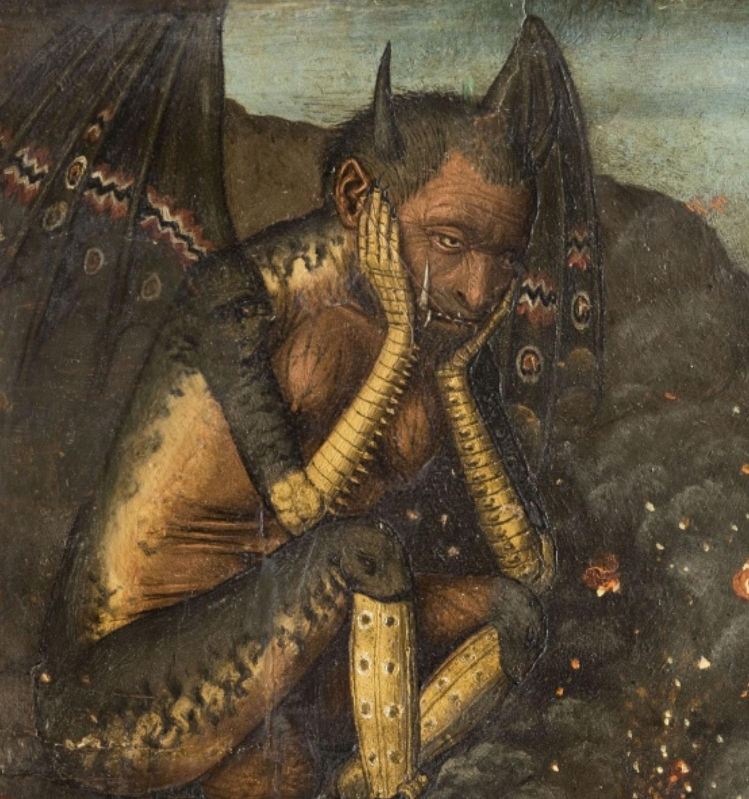 Descenso de Cristo al Limbo (detalle), Bartolomé Bermejo, hacia 1475