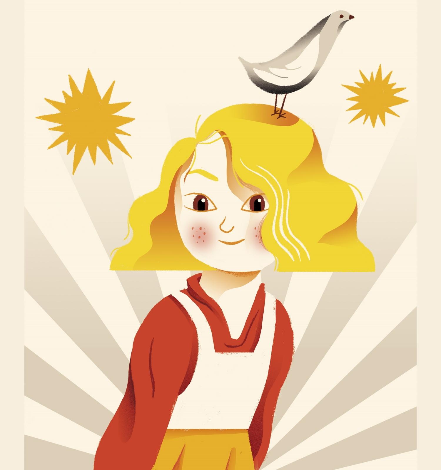 Cartell de les Festes de Santa Eulàlia 2021, obra de l'il·lustrador Xavi Mula.