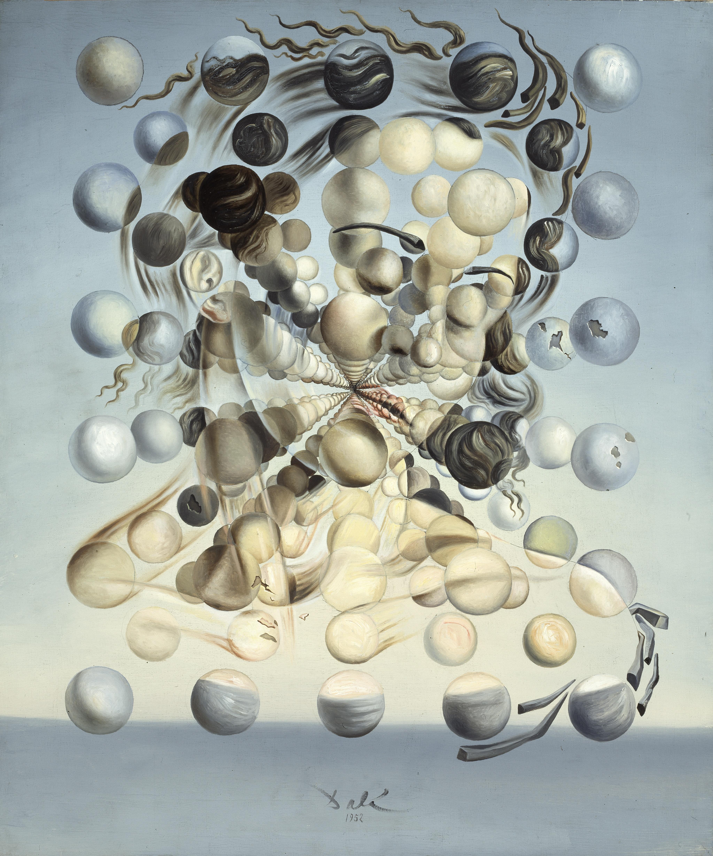 Salvador Dalí. Gala Placidia. Galatea de las esferas, 1952. Fundació Gala-Salvador Dalí, Figueres © Salvador Dalí, Fundació Gala-Salvador Dalí, VEGAP, Barcelona, 2018