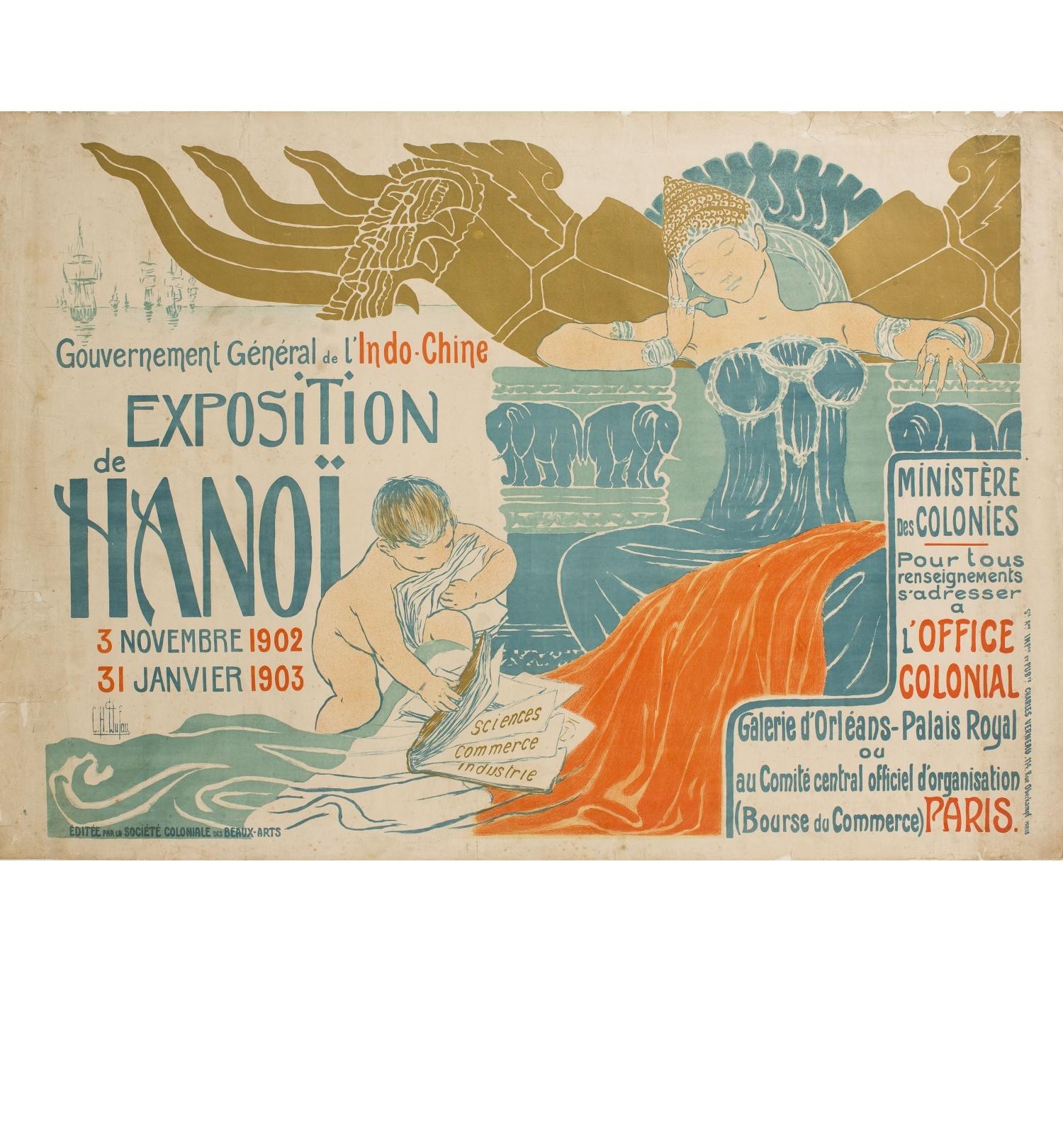 Gouvernement Général de l'Indo-Chine. Exposition Hanoï, Clementine Hélène Dufau, 1902