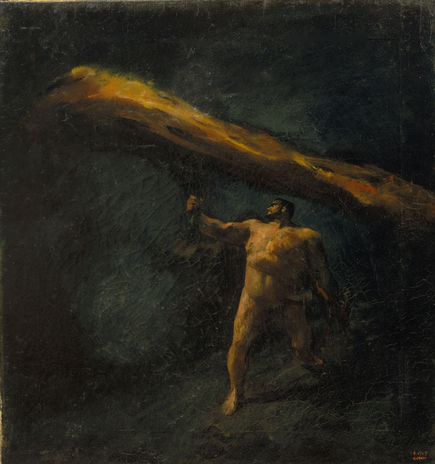 Hèrcules buscant les Hespèrides,  Aleix Clapés, cap a 1890