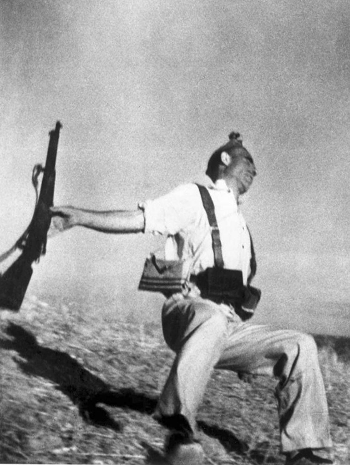 Mort d'un milicià, Robert Capa, 1936