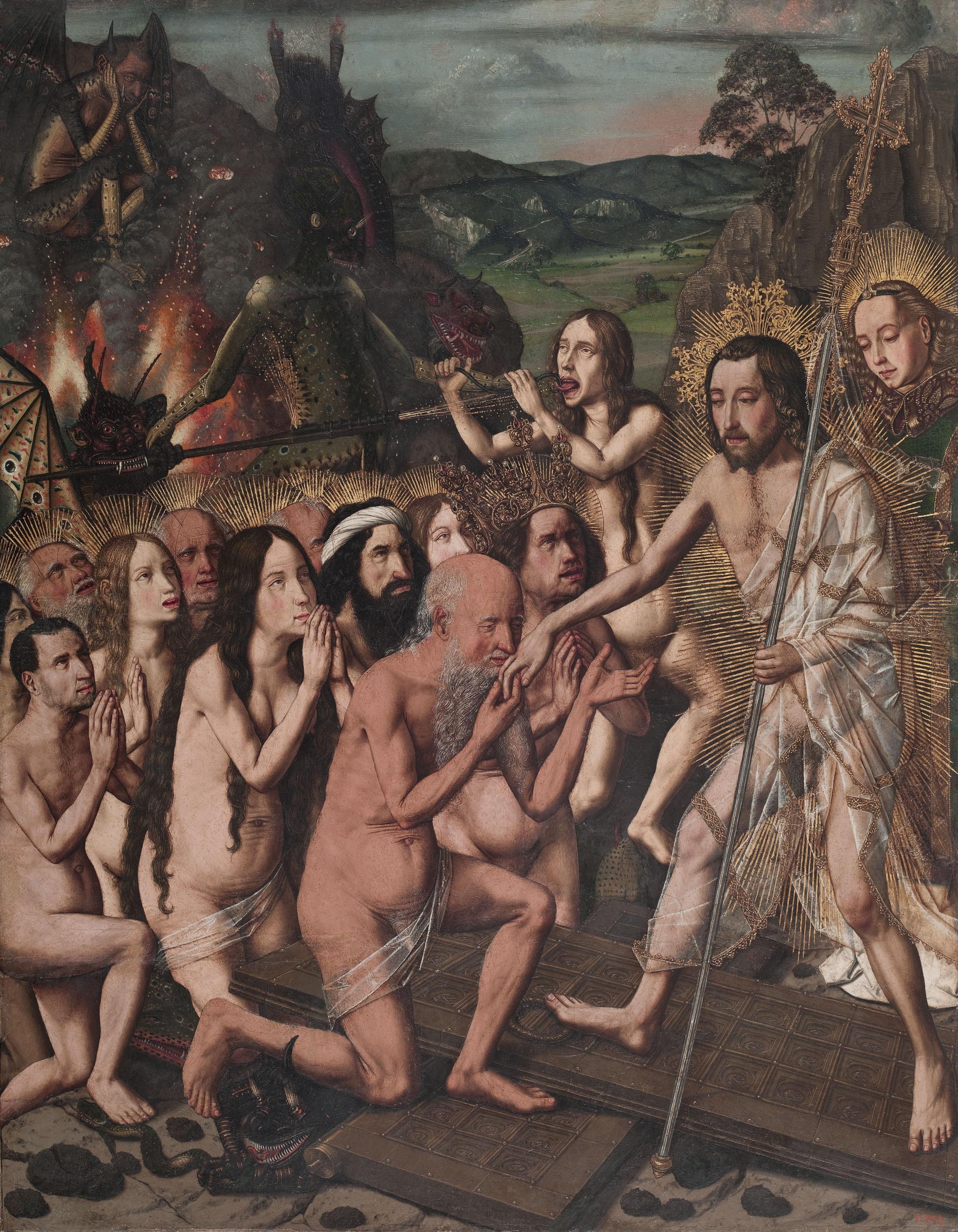 Davallament de Crist als Llimbs, Bartolomé Bermejo, cap a 1475