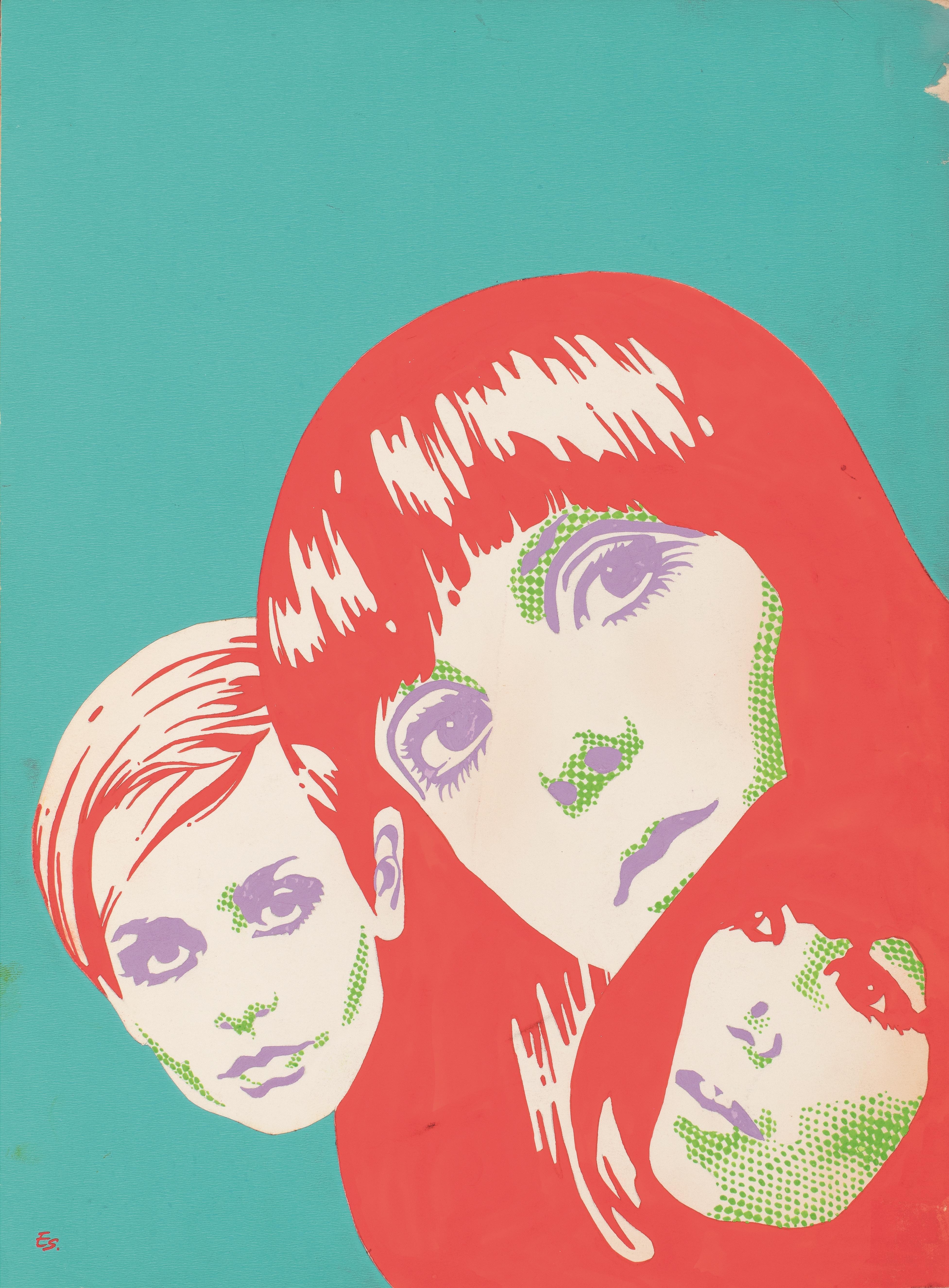 Cartell per a Oriflama (coberta del núm. 70, maig 1968), Enric Sió, 1968