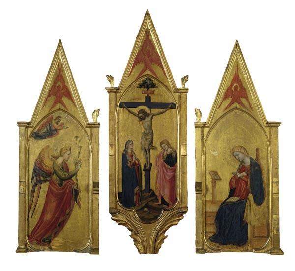 Bicci di Lorenzo - Tríptic de la Crucifixió i l'Anunciació - Cap a 1430