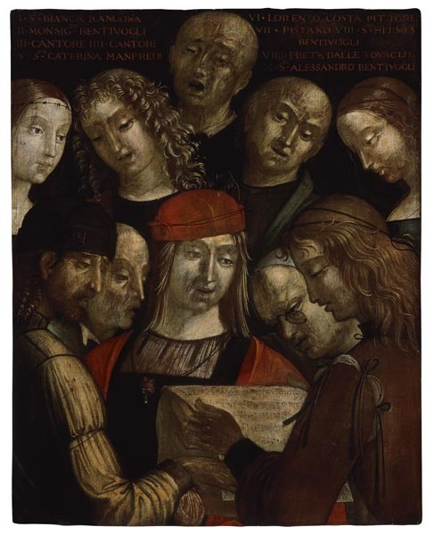 Lorenzo Costa - Retrat de grup amb la família Bentivoglio - 1493