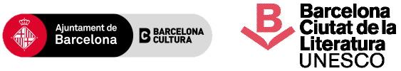 logo Ajuntament de Barcelona i Barcelona ciutat de la literatura UNESCO